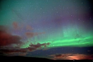 Northern lights from Lerwick, Shetland, by Maurice Henderson