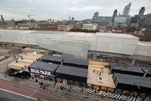 Redchurch Street: Overview of Boxpark and the City