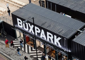 Redchurch Street: Aerial view of Boxpark