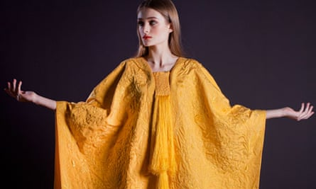 Golden spider silk cape