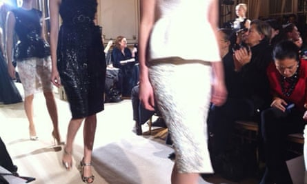 pencil skirts on the couture catwalks
