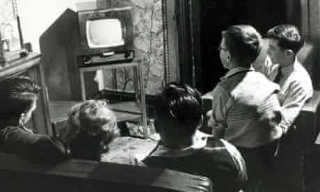 A family in Bolton gathered around a television set in 1951
