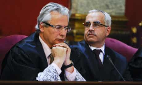 Spanish judge Baltasar Garzon in court