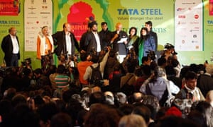 Organisers announce the cancellation of a televised speech by Salman Rushdie at the Jaipur festival