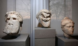 masks from the greek and roman galleries display