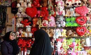 Toy shop in Tehran Iran Barbie dolls