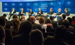 Male-dominated: a meeting at this week's World Economic Forum.
