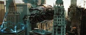 Skyscrapers in film: Transformers: Dark of the Moon film still