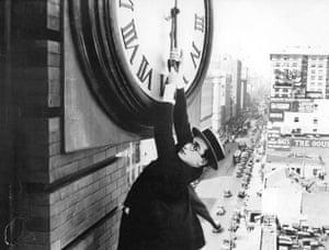 Skyscrapers in film: Harold Lloyd in Safety Last, 1927