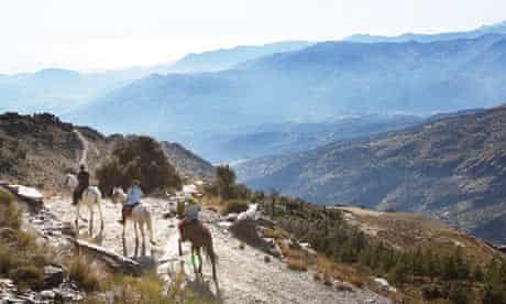 John Bishop horse-riding in Andalucia