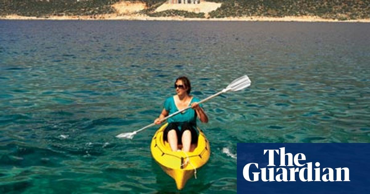 Miranda Hart goes sea kayaking in Turkey | Travel | The Guardian