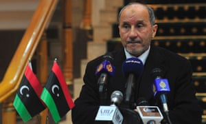 Mustafa Abdel Jalil, chairman of the Libya's National Transitional Council