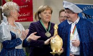 Angela Merkel and golden goose