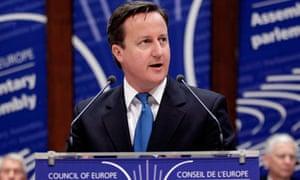 David Cameron Council of Europe