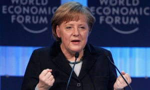 German chancellor Angela Merkel at Davos