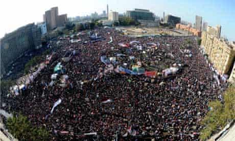 Egyptian Celebrate the 25 January Anniversary