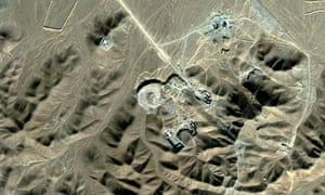 Aerial view of Iran's nuclear facility at Qom