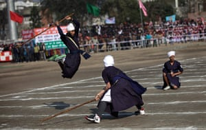 India Republic Day: Traditional Sikh martial artists perfom in Amritsar