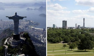 Christ the Redeemer in Rio de Janeiro and Primrose Hill