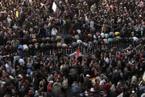 24 hours in pictures : Tahrir Square events to mark the one year anniversary of uprising