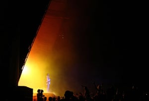 24 hours in pictures : Kanye West performs on stage at Big Day Out 2012 at the Sydney Showground