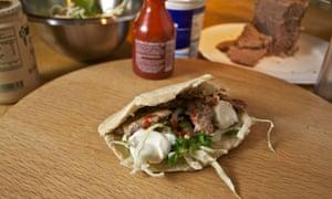 Tim Hayward's finished DIY doner kebab
