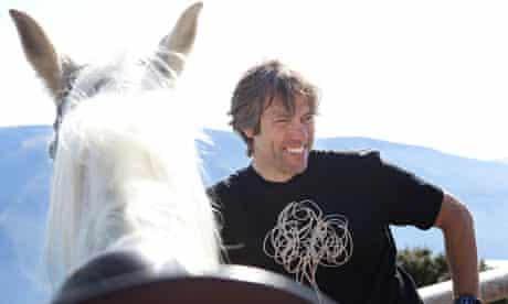 John Bishop horse-riding in Spain