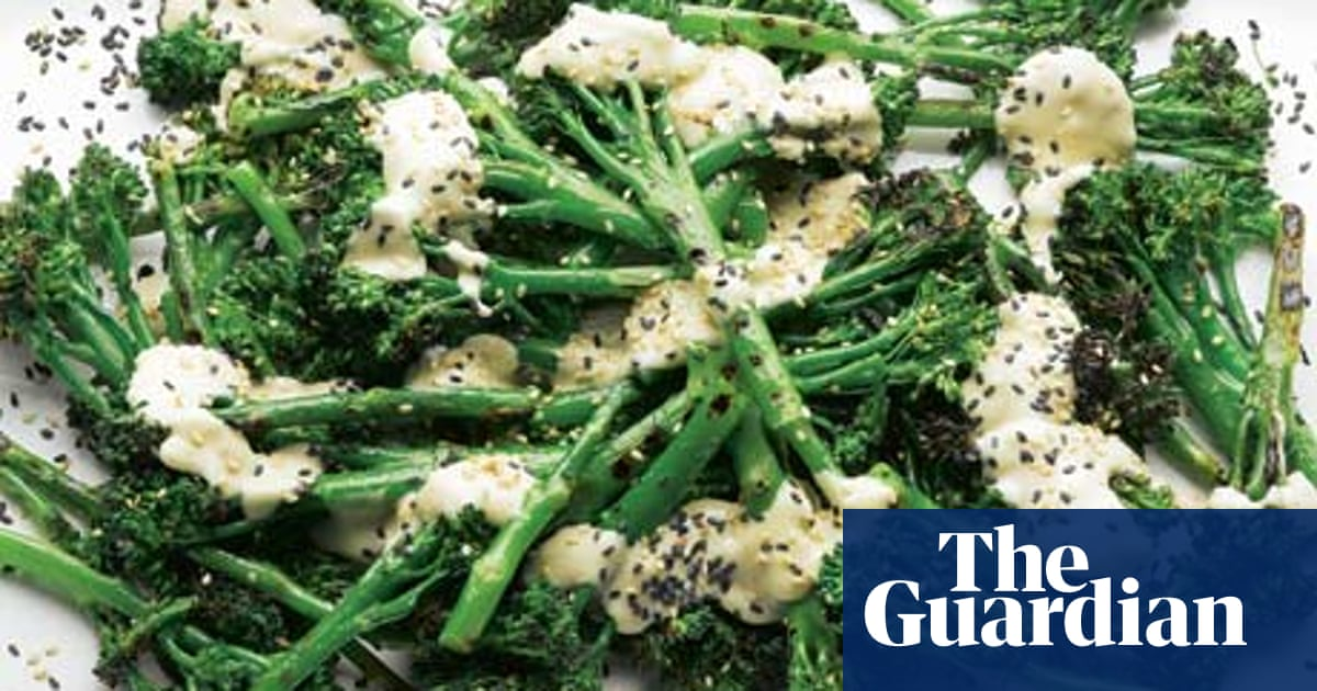 Yotam Ottolenghi S Recipes For Char Grilled Sprouting Broccoli With Sweet Tahini Plus Gingery Fish Balls In Miso Soup Fish The Guardian