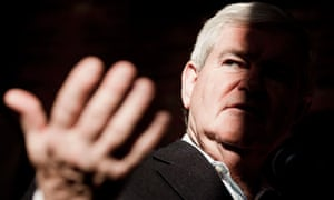 Gingrich campaigns in the shadows