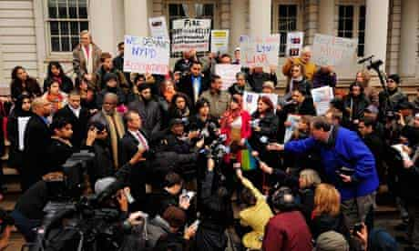 NYC city hall Muslim video protest