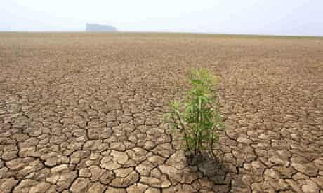 China lake drought