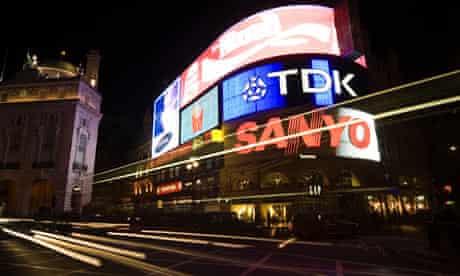 Piccadilly Circus Ads at Night