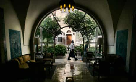 Inside the American Colony hotel in Jerusalem where Munther Fahmi has his bookshop