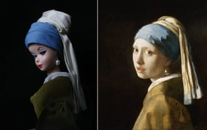Jocelyne Grivaud Barbies: Girl with a Pearl Earring