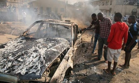 The aftermath of a church bombing near Abuja, blamed on Boko Haram