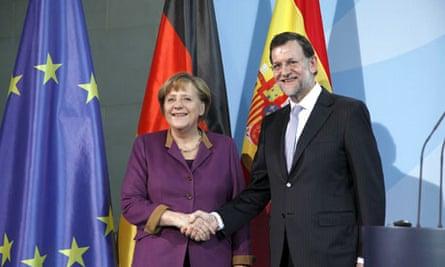 Mariano Rajoy and Angela Merkel