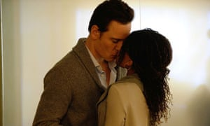 Michael Fassbender and Nicole Beharie in Shame.