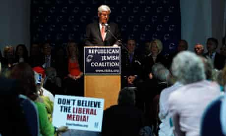 Newt Gingrich at the Republican Jewish Coalition rally