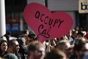 Occupy Oakland: Demonstrators rally at Frank H. Ogawa Plaza in Oakland