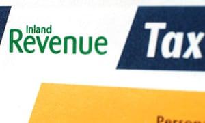 Tax return form.