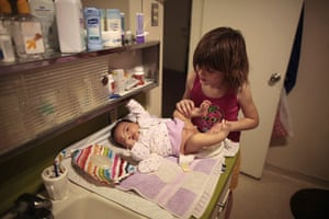 Hope Gardens : Lilly Earp changes the diaper of her sister Emily