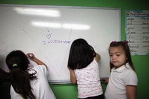 Hope Gardens : Children attend an after school class at Hope Gardens Family Center