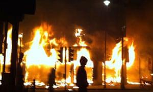 Protesters riot In Tottenham.