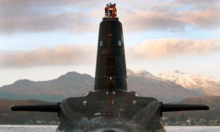 HMS Victorious leaves the Faslane naval base in Scotland