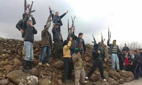 Syrian soldiers who defected to join the Free Syrian Army
