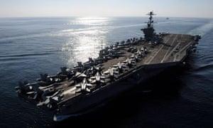 US aircraft carrier Iran Strait of Hormuz