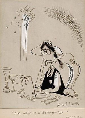 Ronald Searle: OK, Make it a Bollinger '29, by Ronald Searle