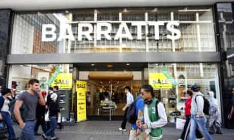 Barratts store in Oxford Street