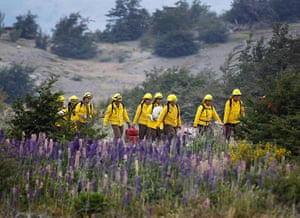 Forest fires in Chile: Firefighters prepare to tackle a wildfire