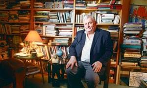 Edmund White in his apartment in Manhattan